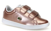 papoytsi lacoste carnaby evo silver synthetic trainers 36spi0002 roz metallize eu 21 photo