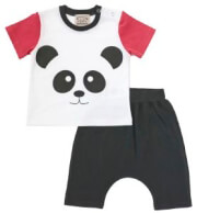 set keen organic wwf baby set panda photo