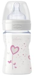 mpimpero gyalino chicco nature glass heart me thili silikoni 150ml roz photo