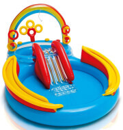 paidiki pisina paidotopos oyranio toxo intex rainbow ring play center 297x193x135cm 57453 photo