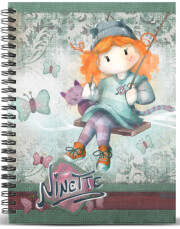 tetradio spiral a5 karactermania forever ninette multicolored grid paper notebook swing 120fylla photo