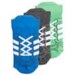 kaltses adidas performance ankle socks 3p mple gkri prasines photo
