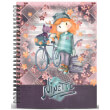 tetradio spiral a5 karactermania forever ninette multicolored grid paper notebook bicycle 120fylla photo