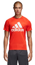 mployza adidas performance d2m logo tee kokkini extra photo 2