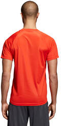 mployza adidas performance d2m logo tee kokkini extra photo 3
