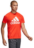 mployza adidas performance d2m logo tee kokkini extra photo 4