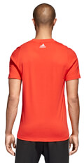 mployza adidas performance essentials tee kokkini l extra photo 4