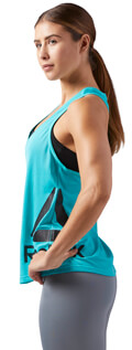 fanelaki reebok sport workout ready mesh tank tirkoyaz m extra photo 3