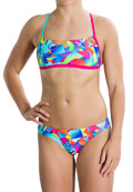 magio speedo flipturns two piece crossback roz prasino 36 extra photo 1