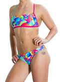 magio speedo flipturns two piece crossback roz prasino 36 extra photo 2