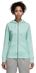 zaketa adidas performance essentials linear fz hooded track top thalassi extra photo 2