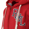zaketa russell athletic rsl logo zip through hoody kokkini extra photo 2