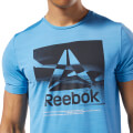 mployza reebok sport workout ready activchill graphic tee siel l extra photo 4