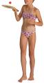 magio arena tropical summer bandeau rouche bikini gkri kokkino 116 cm extra photo 2