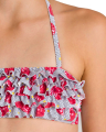 magio arena tropical summer bandeau rouche bikini gkri kokkino 128 cm extra photo 3