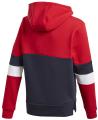foyter adidas performance linear colorblock hooded fleece sweatshirt kokkino mple skoyro extra photo 1