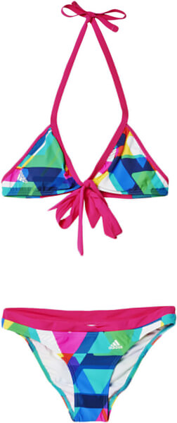 1105cf8f45a ΜΑΓΙΟ ADIDAS PERFORMANCE ALL OVER PRINT BIKINI ΡΟΖ/ΜΠΛΕ
