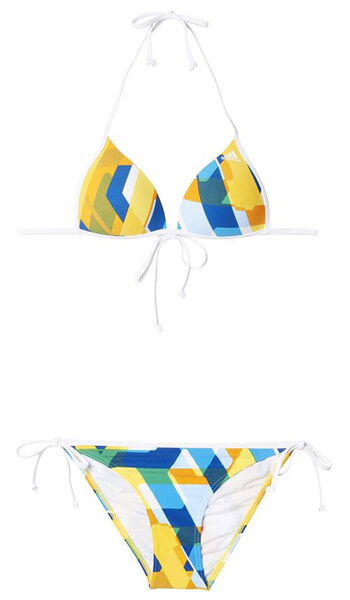 5faa37415ff ΜΑΓΙΟ ADIDAS PERFORMANCE ALL OVER PRINT BIKINI ΛΕΥΚΟ/ΚΙΤΡΙΝΟ