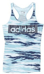fanelaki adidas performance essentials linear allover tank top galazio mple photo