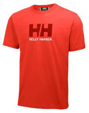 mployza helly hansen logo t shirt kokkini photo