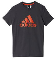 mployza adidas performance yb logo tee mayri portokali photo