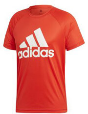 mployza adidas performance d2m logo tee kokkini photo