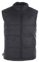 gileko russell padded gilet with concealed hood mayro m photo