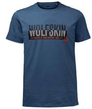 mployza jack wolfskin slogan tee mple photo
