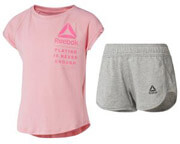 set reebok sport girl s tee and shorts set roz gkri 110 cm photo