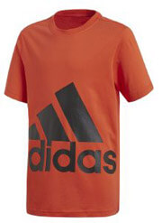 mployza adidas performance big logo tee portokali 140 cm photo