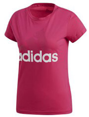 mployza adidas performance essentials linear tee matzenta xs photo