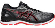 papoytsi asics gel nimbus 20 anthraki kokkino usa 10 eu 44 photo