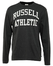 mployza russell athletic ls crewneck logo print gkri photo