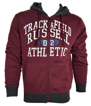 zaketa russell athletic zip through hoody graphic byssini xxl photo