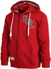 zaketa russell athletic rsl logo zip through hoody kokkini photo