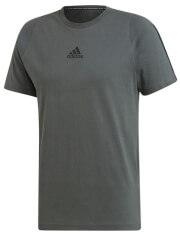 mployza adidas performance mh 3 stripes tee gkri m photo
