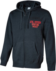 zaketa russell athletic division zip through hoody anthraki photo