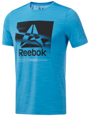 mployza reebok sport workout ready activchill graphic tee siel l photo