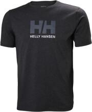 mployza helly hansen hh logo t shirt anthraki melanze photo