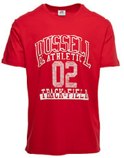 mployza russell athletic track field s s crewneck tee kokkini l photo