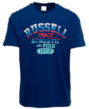 mployza russell athletic track s s crewneck tee mple photo