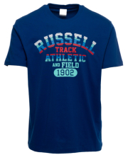 mployza russell athletic track s s crewneck tee mple s photo