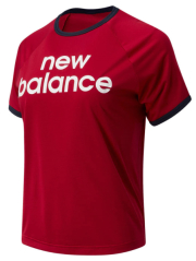 mployza new balance achiever graphic high low tee kokkini photo