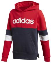 foyter adidas performance linear colorblock hooded fleece sweatshirt kokkino mple skoyro photo