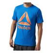 mployza reebok sport shattered stacked logo tee mple portokali photo