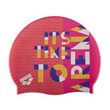 skoyfaki arena print jr pool cap pink dots photo