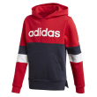 foyter adidas performance linear colorblock hooded fleece sweatshirt kokkino mple skoyro photo