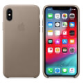 apple mrwl2zm a iphone xs leather case taupe extra photo 1