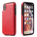 forcell wallet flip case for apple iphone xs max 65 red extra photo 1
