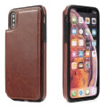 forcell wallet flip case for samsung galaxy s9 brown extra photo 1